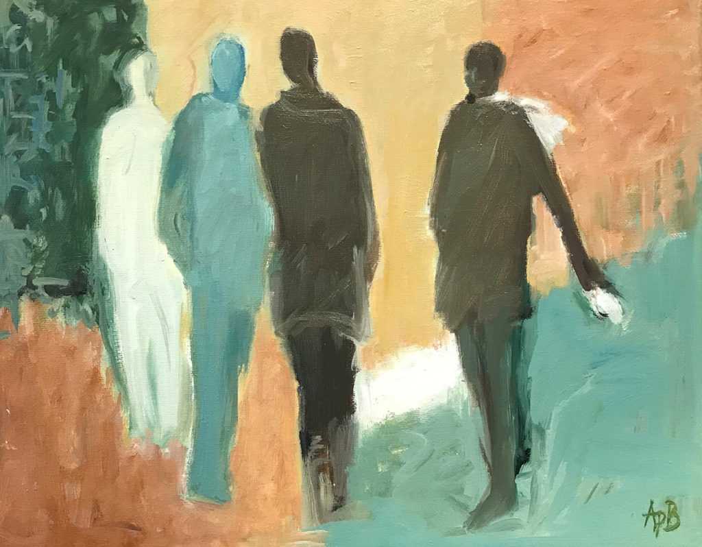 "En Route (11""x14"") Oil on canvas"