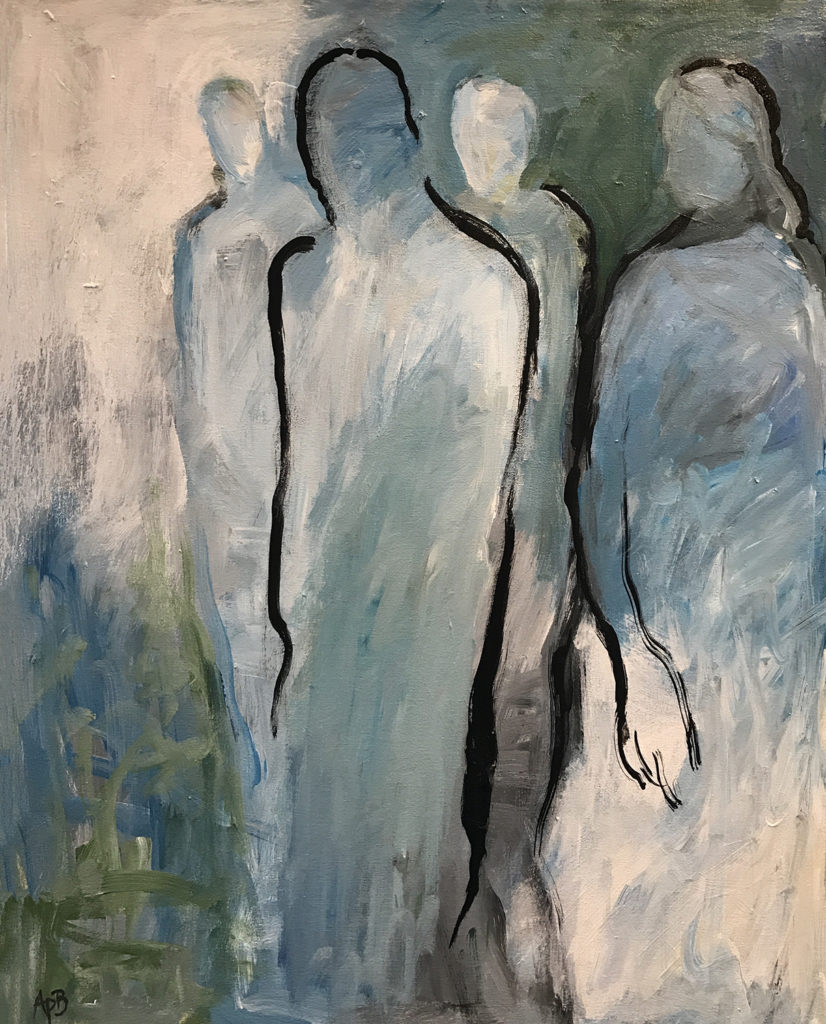 """He passed by (20""""x16"""")"""