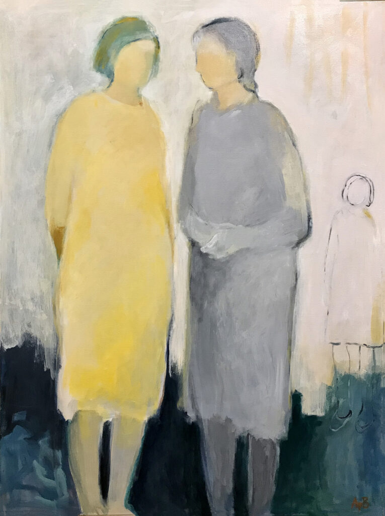 "Mother-Daughter (40""x 30"")"